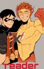 Robin x Reader x Kid Flash by FangirlxTori