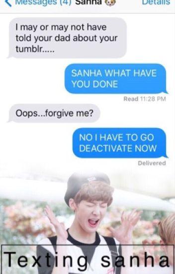 Texting Sanha