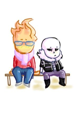 G!Sans X Grillby by BRAINLESSBEING
