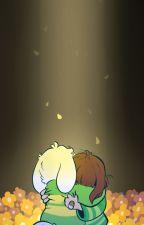 Chara X Asriel by SilentLunarNight