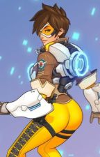 OverWatch : Lena Oxten (Tracer) X Male Reader  by Story-Producer
