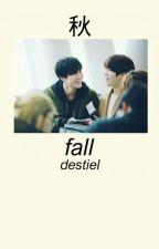 fall • destiel by t-ywng