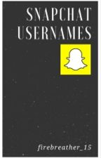 SNAPCHAT USERNAMES by firebreather_15