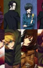 Alois,Claude,Ceil,Sebastian and lizzy, eren, levi, armin and mika react to ships by JadeHedley