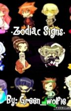 •Zodiac Signs• by Green_wolfie