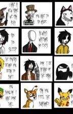 Creepypasta imagines :) by kitakitsunefox
