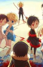 Izaya and shizuo  AU pictures~  by Psyche_orihara_