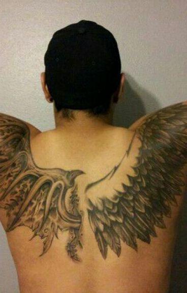 Мужские татуировки на спине: фото, эскизы тату, советы