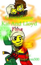 Greenflame Kai and Lloyd fuse  by NinjaGem500