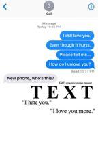 Texts  by abbygaleeeeee