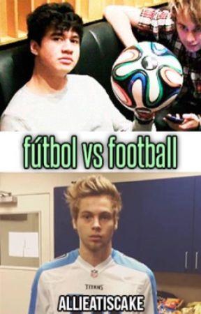 fútbol vs football (cake au) by allieatiscake