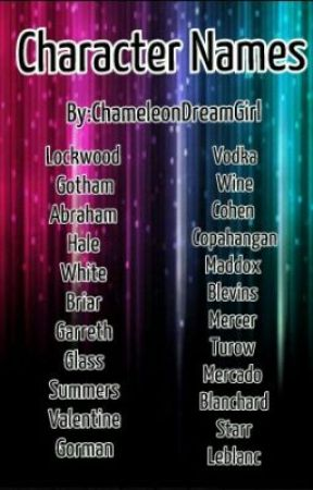 character names mixed names boys and girls wattpad
