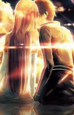 Kirito X Asuna (Highschool) by TeaGid