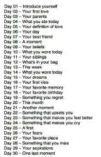 30 day writing challenge  by breakthatcircle8