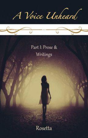 A Voice Unheard- Part I: Prose by ShambhaviRavishankar