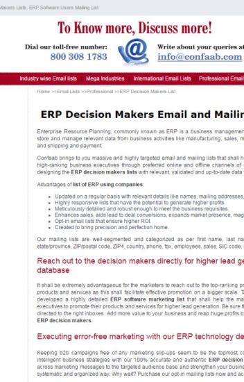 ERP decision makers email list - danaa111 - Wattpad