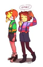 charisk ( undertale chara x frisk) by Space_Trash_