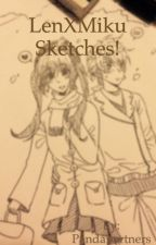 LenXMiku Sketches! by Pandapartners
