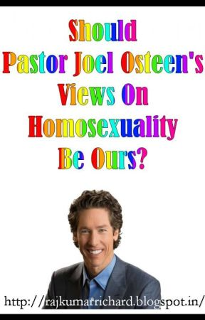 Joel osteen homosexuality is a sin