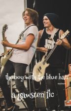 the boy with the blue hair // gawsten  by cwhizzle
