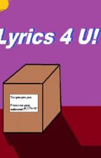 LYRICS 4 U!  (popular song and more) by coolmermaid1