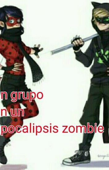 un grupo en un apocalipsis zombie