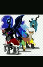 mended by the dark hearts( male Alicorn/Unicorn Reader X fem villains by tyler27872