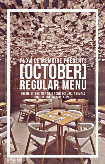 [OCTOBER] Regular Menu
