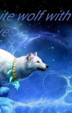 The White Wolf With Blue Eyes by jackie5050