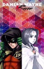 Damian Wayne X Raven by TashieReen