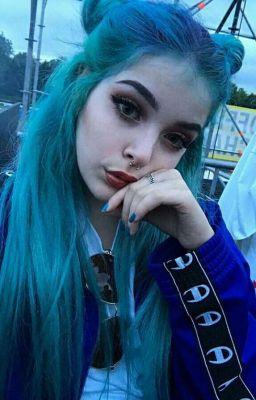 Blue hair college girl - 4 9