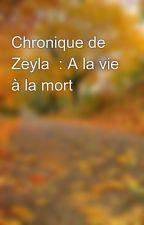 Chronique de Zeyla  : A la vie à la mort by 213_bb_