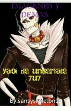 IMAGENES YAOI DE UNDERTALE :3 by sansyskeleton01