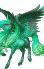 La licorne volante d'émeraude by Ari_Poney_magique