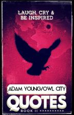 Adam Young/Owl City Quotes - Book II by Shy_Shadow