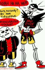 Underfell Papyrus x Guardian Angel! Reader by BrownENH