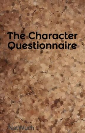 The Character Questionnaire - Physical Appearance - Wattpad