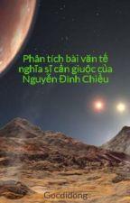 Phân tích bài văn tế nghĩa sĩ cần giuộc của Nguyễn Đình Chiểu by banquantri