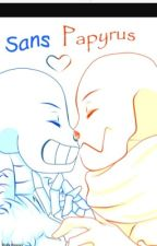 Sans x papyrus  by undertailsanzz