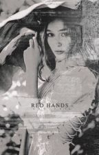 red hands,     the walking dead. by joaeys