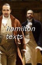 • hamilton texts • by dystopiqn