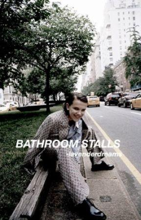 bathroom stalls » mileven by -lavenderdreams