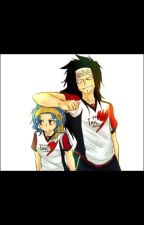 - Gajeel and Levy - Soccer AU by -Silver-Moonlight-