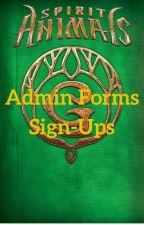 Spirit Animals - Admin Sign-Ups by SpiritAnimalsErdas