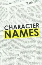 character name ideas (for you) by zebrastripes22
