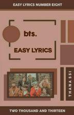 bts ᨀ easy lyrics。 by thana-ssi
