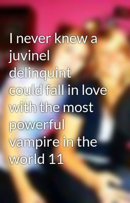 I never knew a juvinel delinquint could fall in love with the most powerful vampire in the world 11