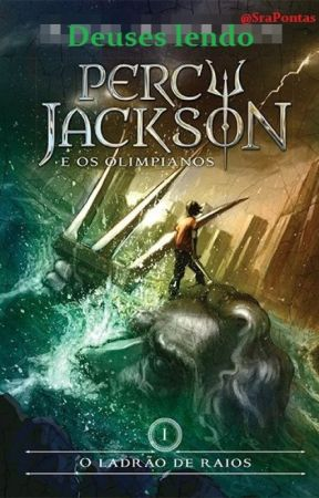 deuses lendo 'Percy Jackson e o Ladrão de Raios' by SraPontas
