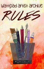 Wattpad Artist Archive Rules by TheGirlOfSmarts