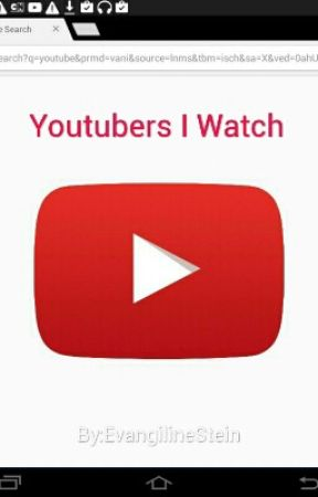 Youtubers I Watch by aiviloniets2